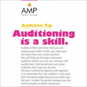AMP Talent Group Audition Tips Do's and Dont's